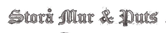 Storå mur och puts. Kaminer och skorstensrenovering i Lindesberg logotyp
